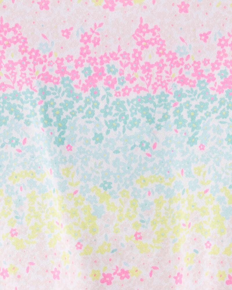 Rainbow Floral Tie-Front Jersey Tee, , hi-res
