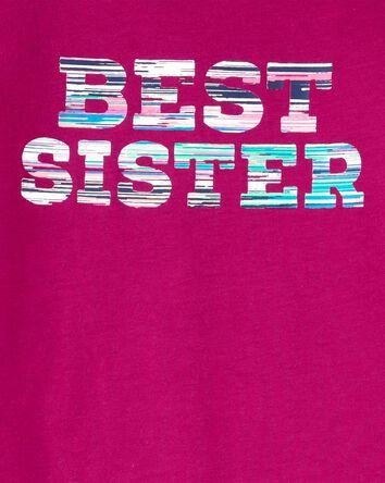 T-shirt en jersey Best Sister