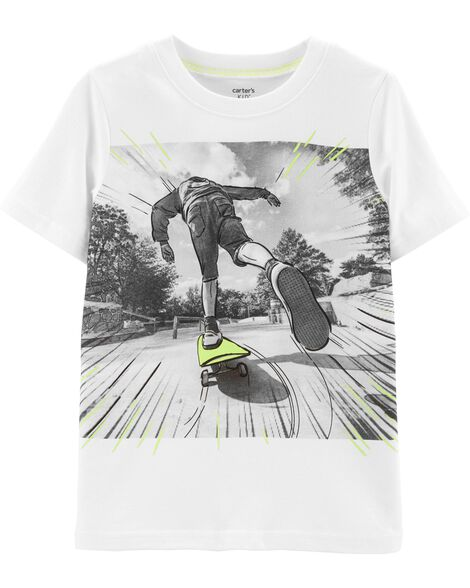 Skateboarding Graphic Jersey Tee