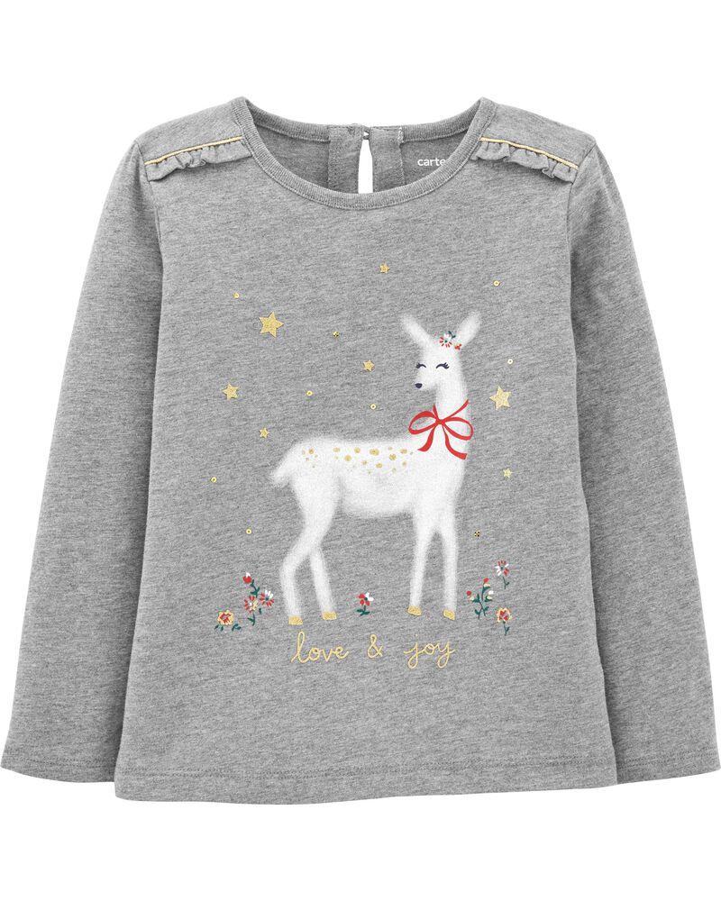 Holiday Reindeer Jersey Tee, , hi-res