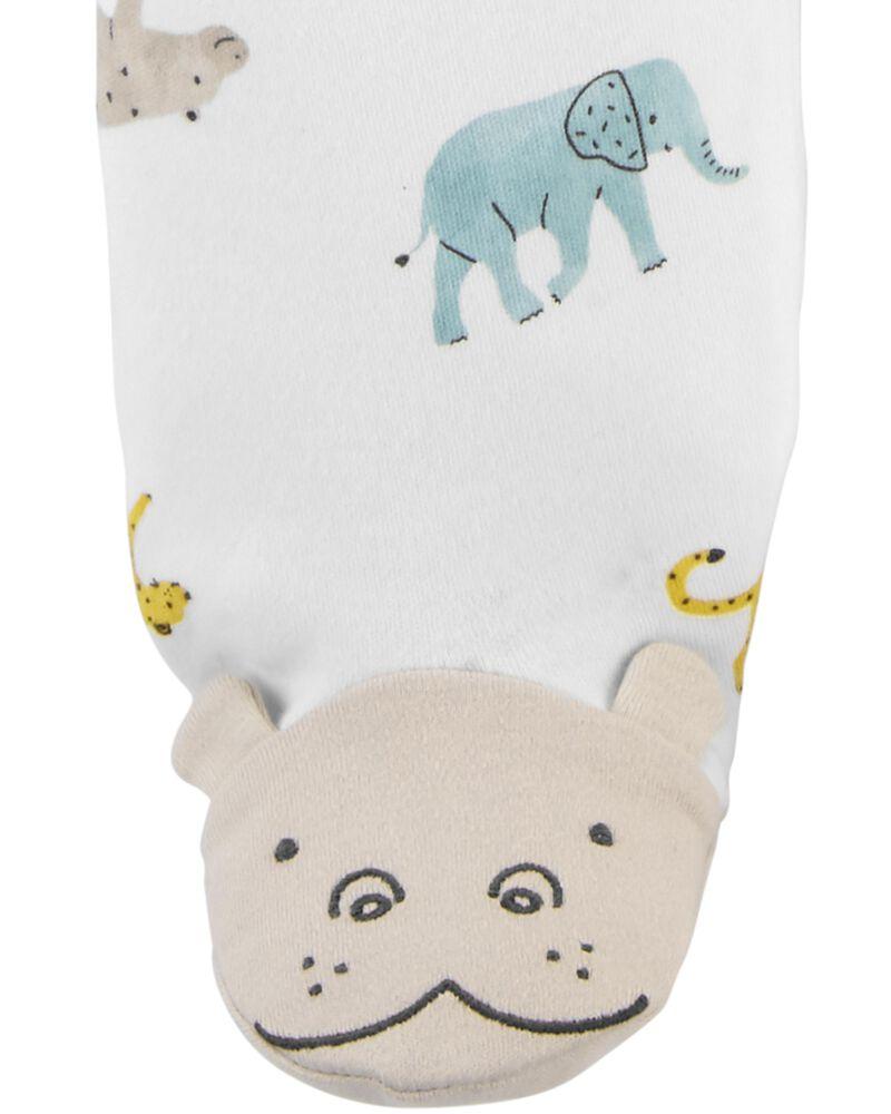 Animal 2-Way Zip Cotton Sleep & Play, , hi-res