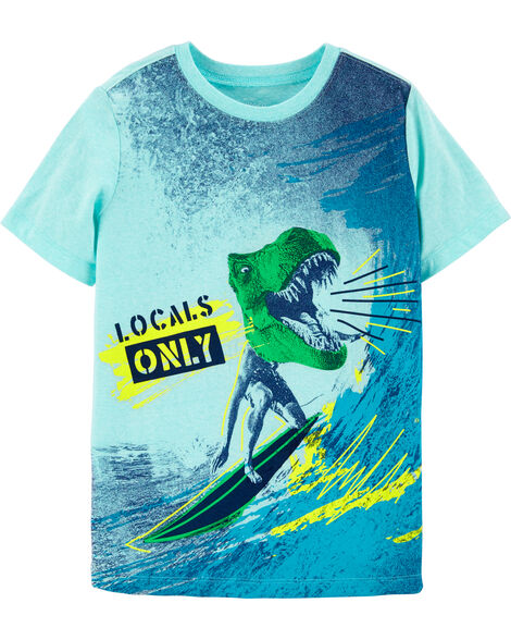 Dinosaur Surfer Graphic Tee