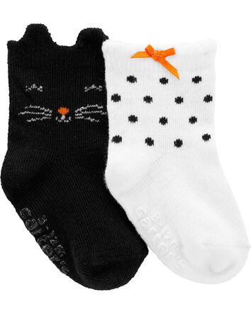 Carters Unisex Baby Halloween 2-Pack Socks Booties