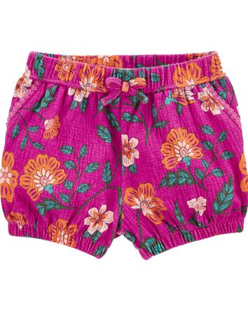 Floral Crinkle Jersey Bubble Shorts