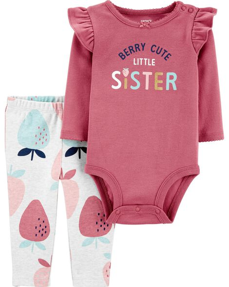 2-Piece Berry Bodysuit Pant Set