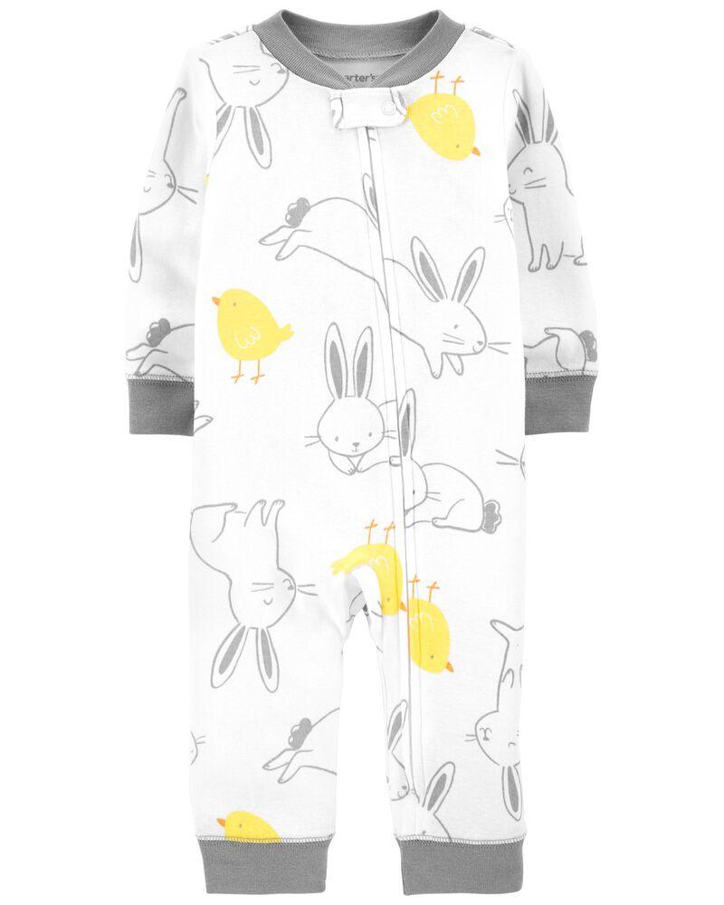Easter Zip-Up Cotton Sleep & Play, , hi-res