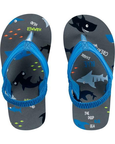 Sandales de plage à motif de requins