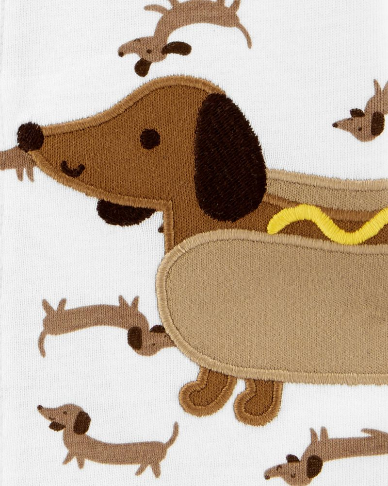 Hot Dog Snap-Up Romper, , hi-res