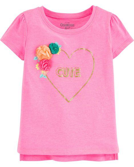 T-shirt à fleurs CUTE
