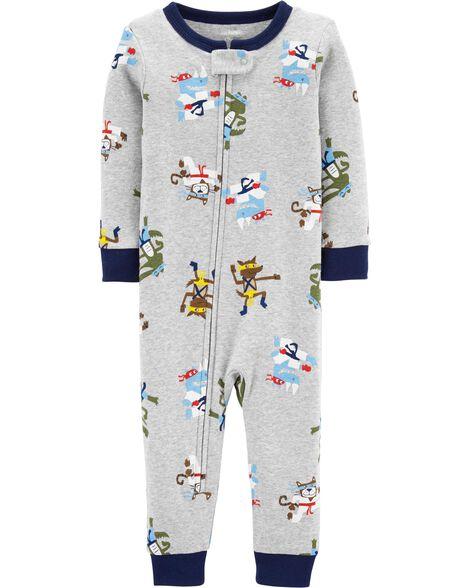 1-Piece Ninja Snug Fit Cotton Footless PJs