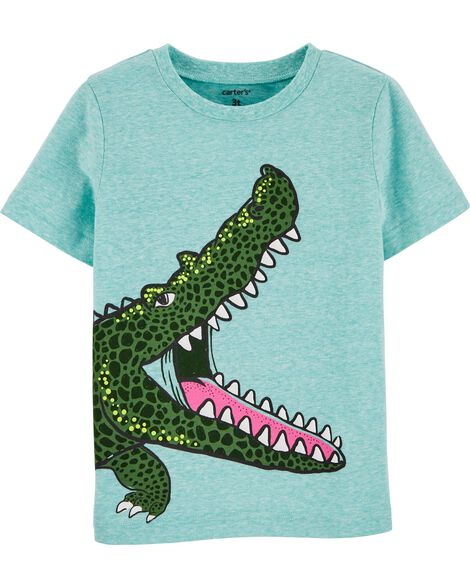 T-shirt en jersey chiné à alligator