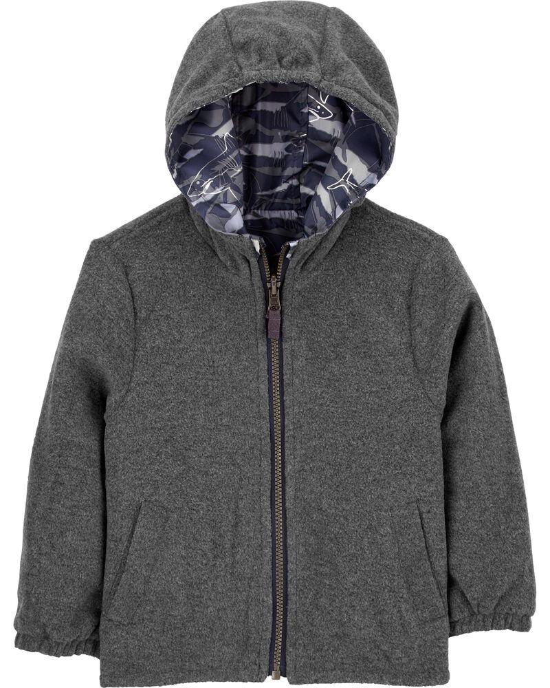 Reversible Fleece-Lined Midweight Jacket, , hi-res