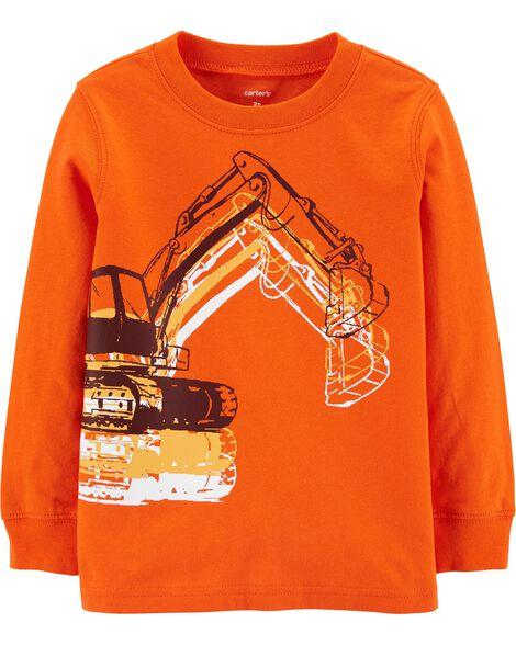 T-shirt en jersey avec camion de construction