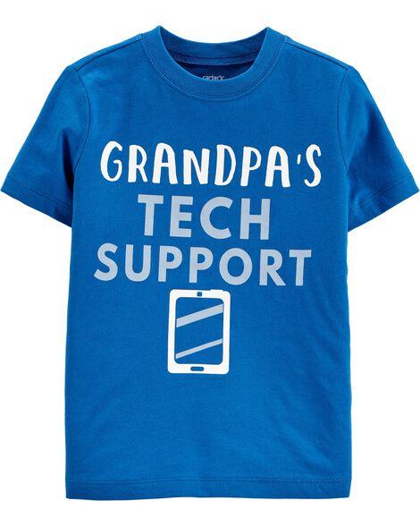T-shirt en jersey Grandpa's Tech Support