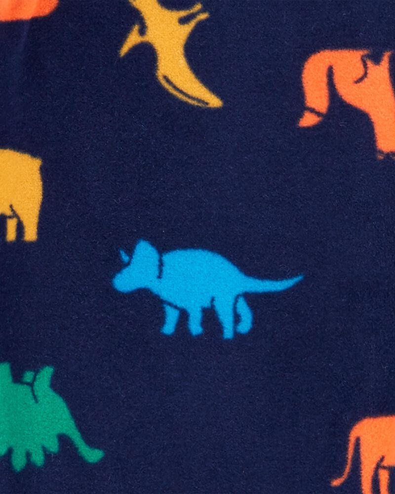 Pyjama 1 pièce en molleton sans pieds dinosaure, , hi-res