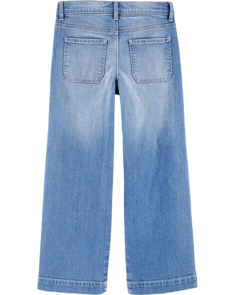 Pantalon en denim à jambes amples