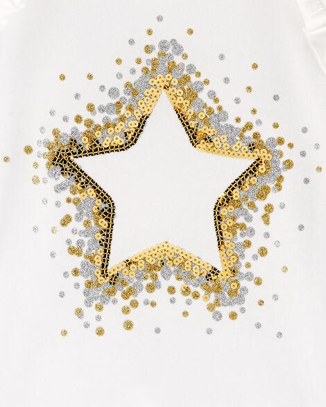 T-shirt à étoile scintillante