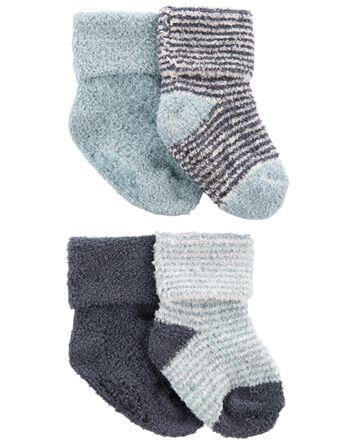 4 paires de chaussons en chenille