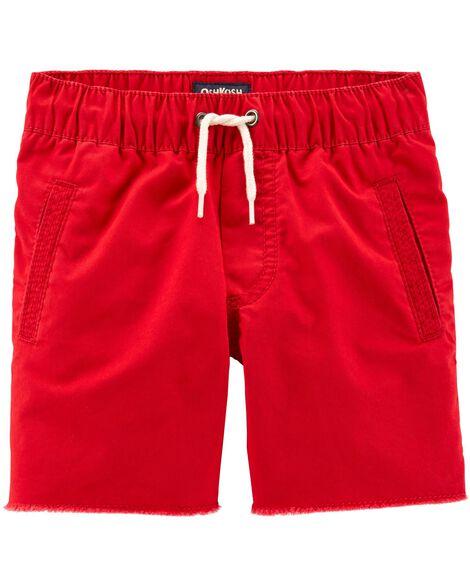 Raw Hem Pull-On Shorts