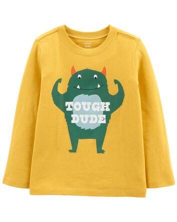 T-shirt en jersey avec monstre