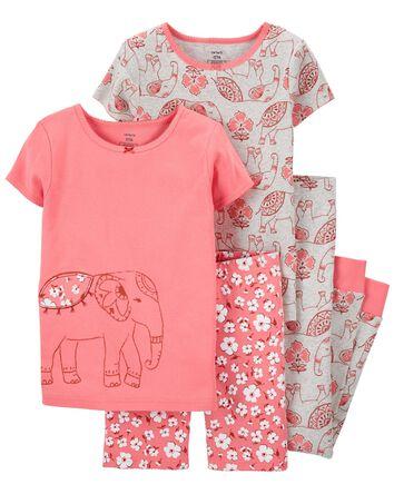 4-Piece Elephant 100% Snug Fit Cott...