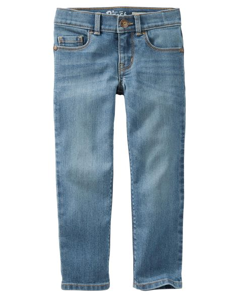 Jeans doux fuseau - bleu Upstate