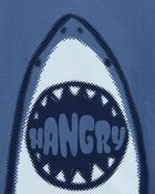 T-shirt en jersey à imprimé de requin, , hi-res