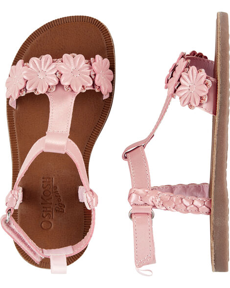 Sandales à imprimé fleuri