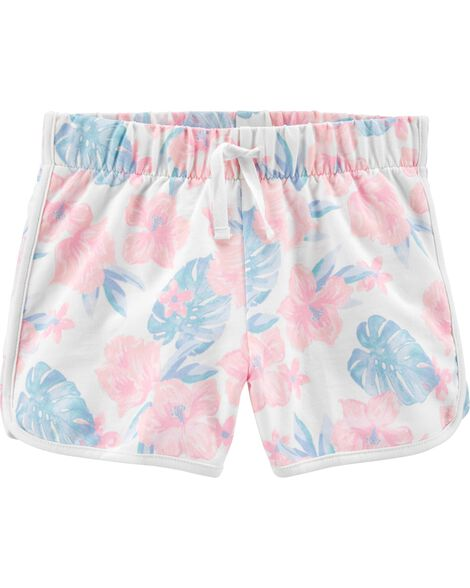 Tropical Floral Dolphin Shorts