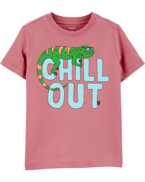 T-shirt en jersey Chill Out Lizard