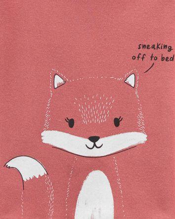 4-Piece Fox 100% Snug Fit Cotton PJ...