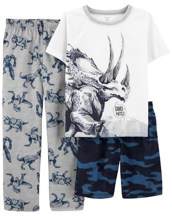 3-Piece Dinosaur Loose Fit PJs