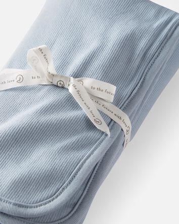 Organic Cotton Rib Blanket