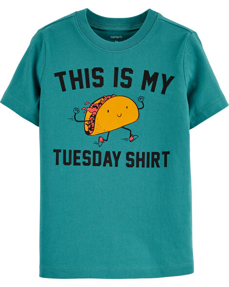 T-shirt en jersey Taco Tuesday
