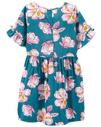 Robe de popeline fleurie