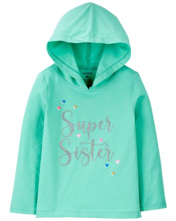 Super Sister Hooded Jersey Tee