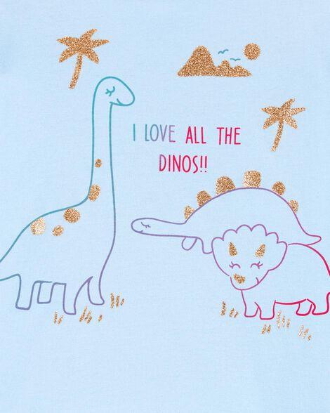 Glitter Dinosaur Jersey Tee