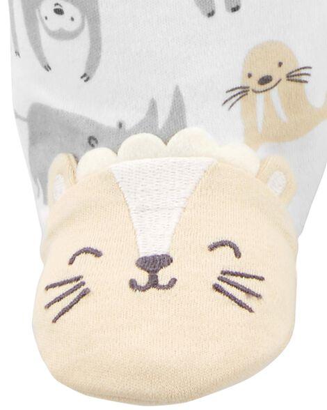 Safari Animal Zip-Up Cotton Sleep & Play