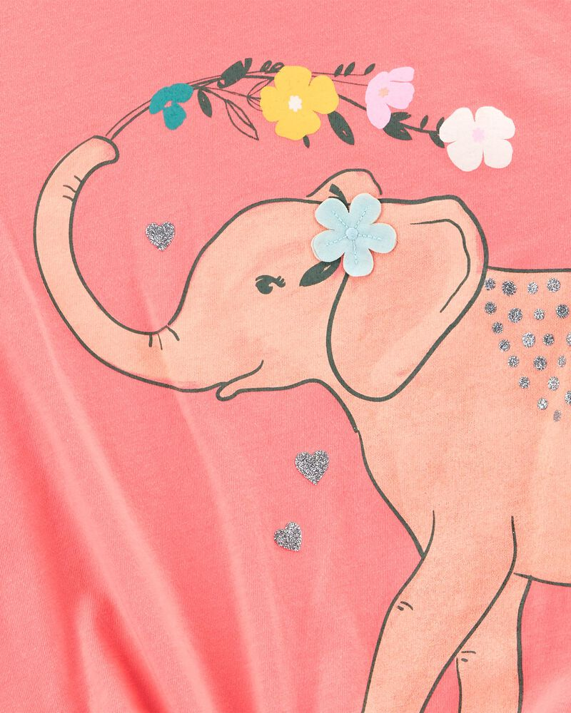 T-shirt en jersey à éléphant, , hi-res