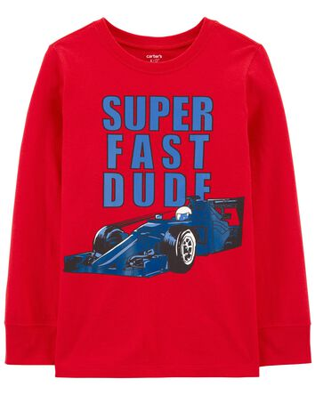 Super Fast Dude Car Jersey Tee