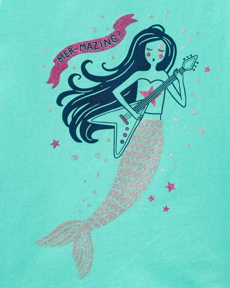 T-shirt en jersey à sirène rock star