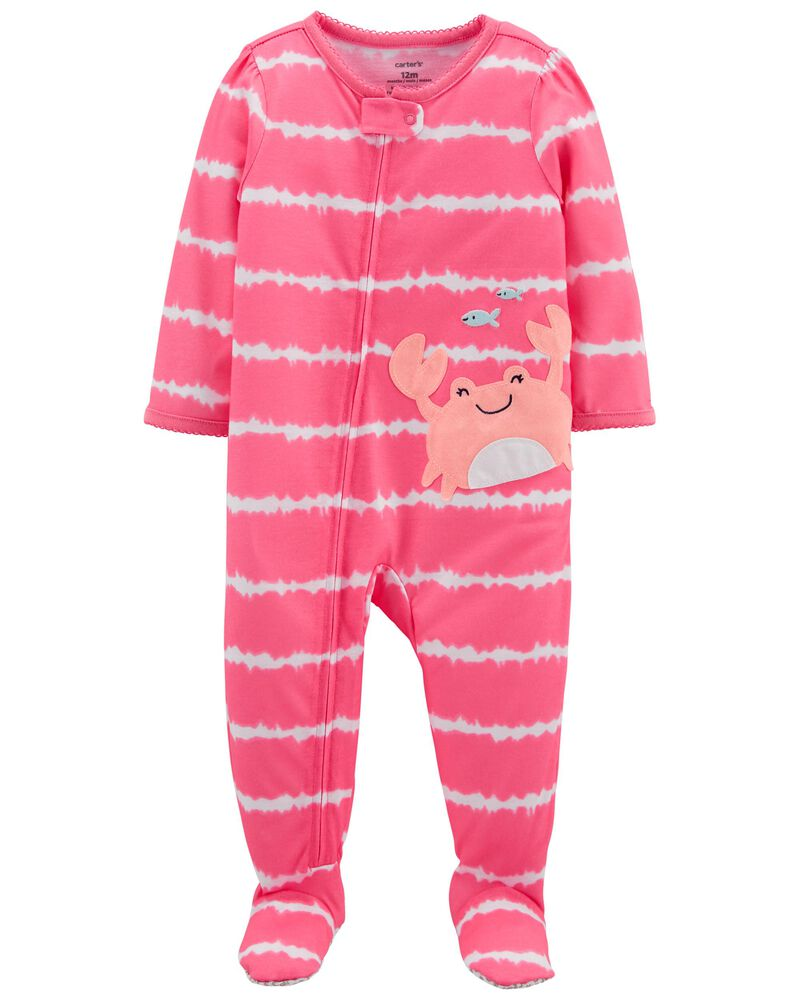 Pyjama 1 pièce de coupe ample à pieds et crabe, , hi-res