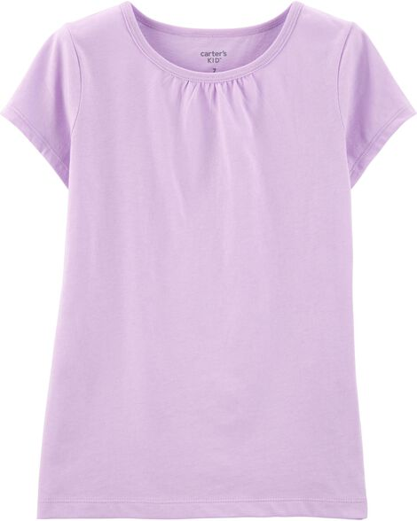 T-shirt en coton mauve