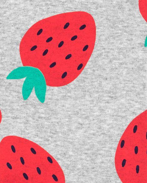 1-Piece Strawberry Snug Fit Cotton Footie PJs