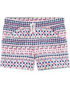 Patterned Pull-On French Terry Shorts, , hi-res