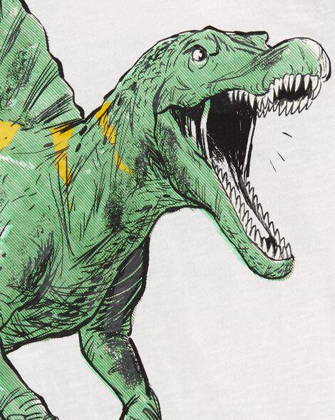 T-shirt dinosaure à manches raglan