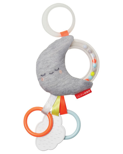Silver Lining Cloud Rattle Moon Stroller Baby Toy