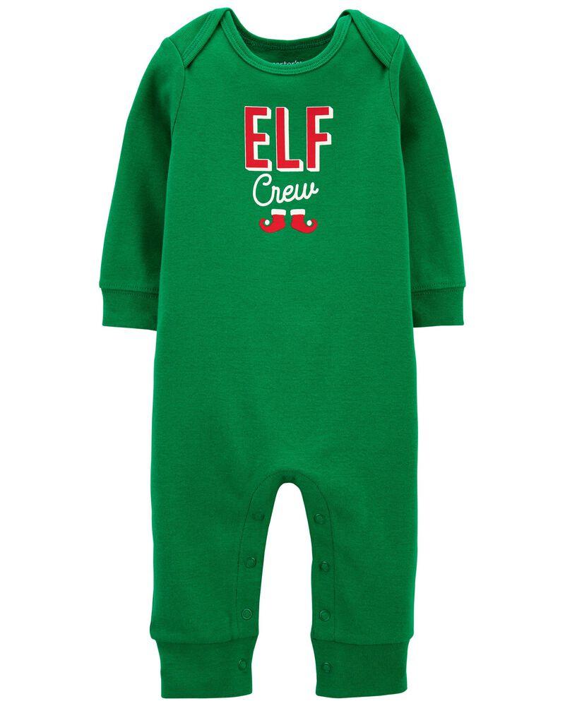 Elf Snap-Up Cotton Footless Sleep & Play, , hi-res