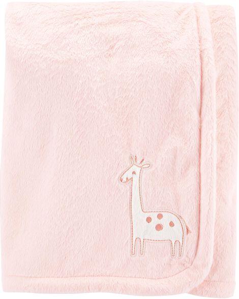 Couverture pelucheuse à girafe