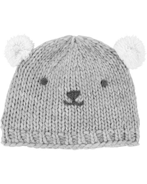 Knit Bear Cap